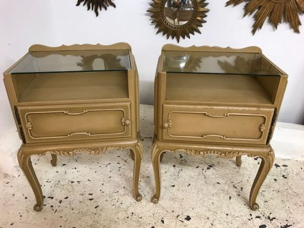 Pair Of French Bedside Cabinets - b81